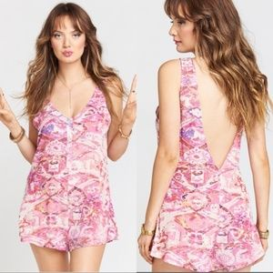NWT Show Me Your Mumu Ellie Sleeveless Pink Romper
